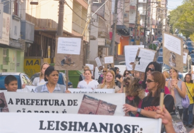 protesto em Santa Maria (RS)