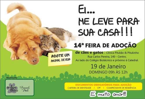 XIV Feira de Adoção de cães e gatos